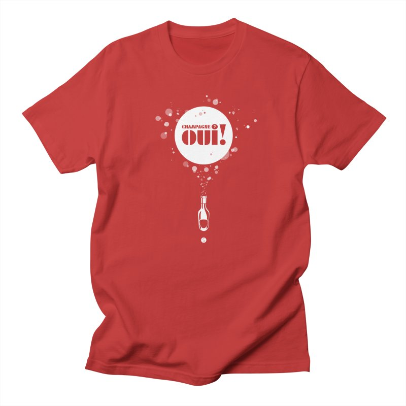 Champagne? Oui! Men's Regular T-Shirt by Salty Shirts