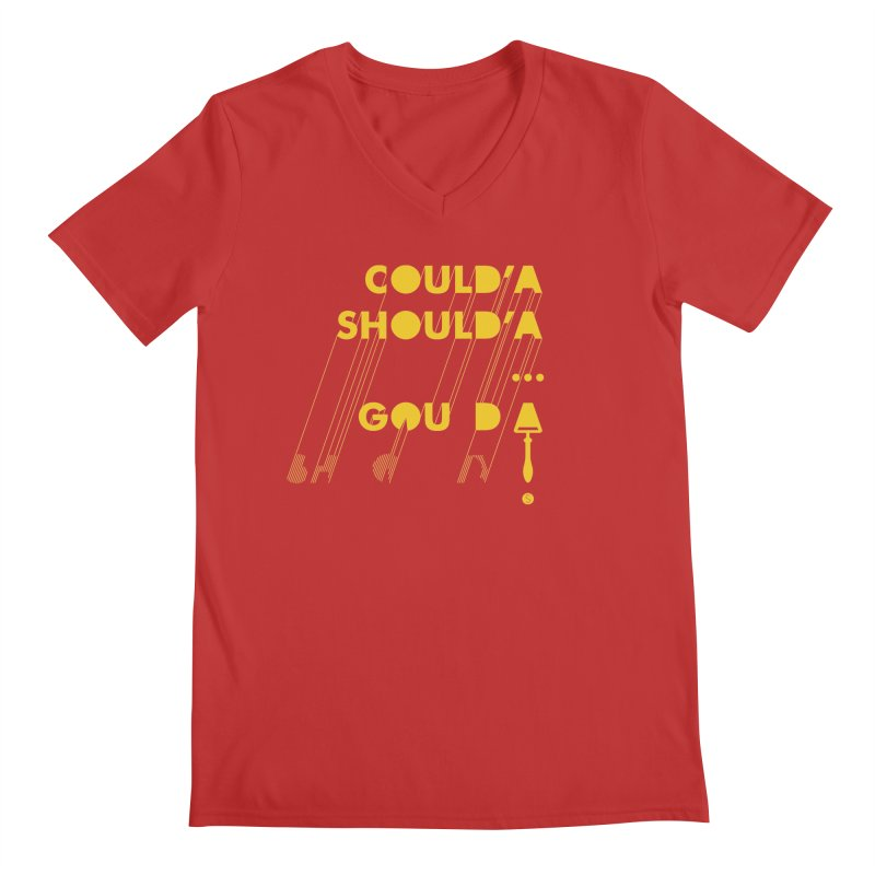 Could'a Should'a ... Gouda Men's V-Neck by Salty Shirts