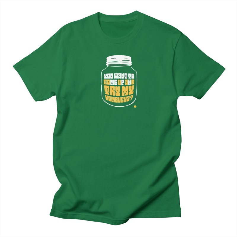 You Want To Come Up And Try My Kombucha? Men's T-Shirt by Salty Shirts