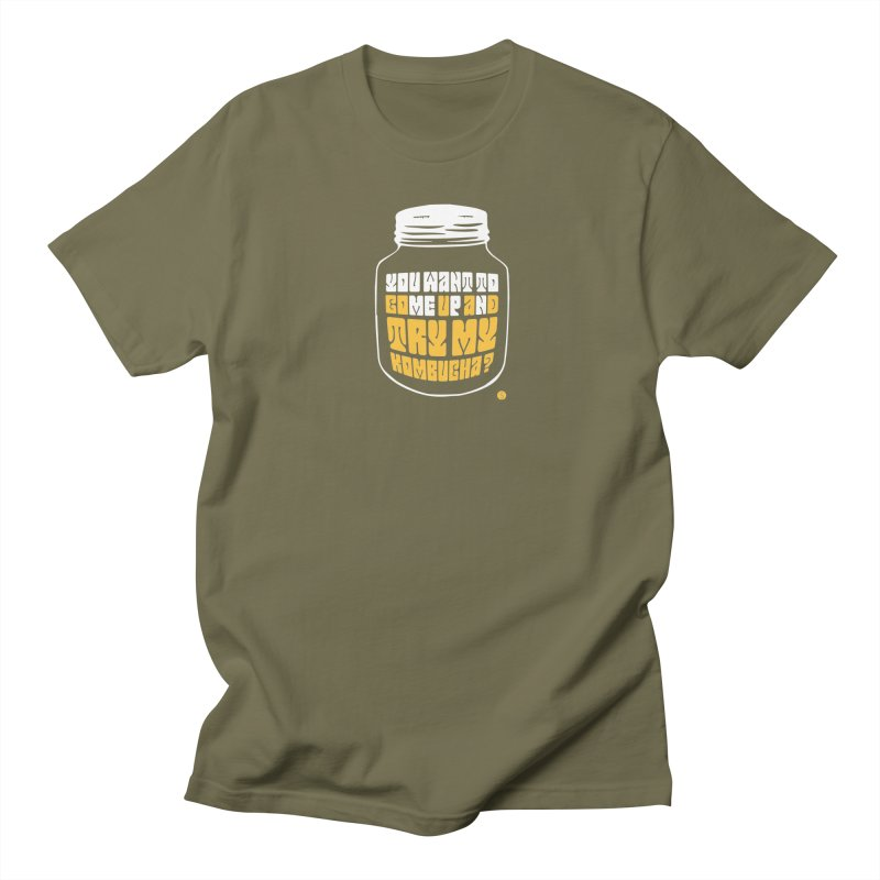 You Want To Come Up And Try My Kombucha? Men's Regular T-Shirt by Salty Shirts