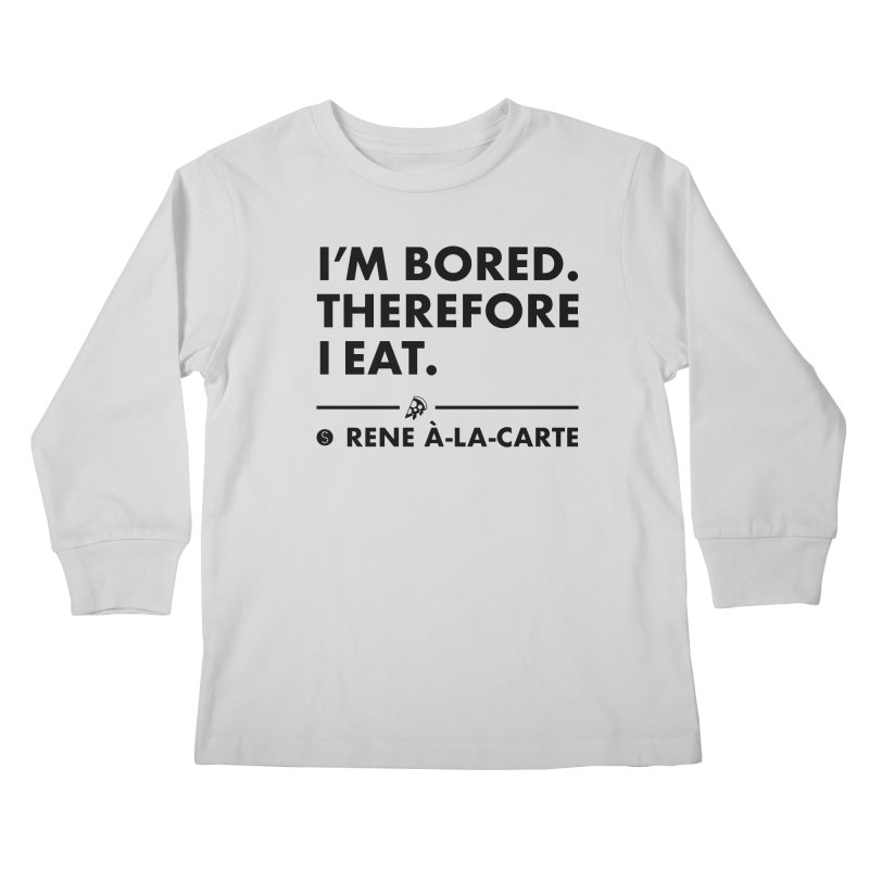 I'm Bored. Therefore I Eat (Lights) Kids Longsleeve T-Shirt by Salty Shirts