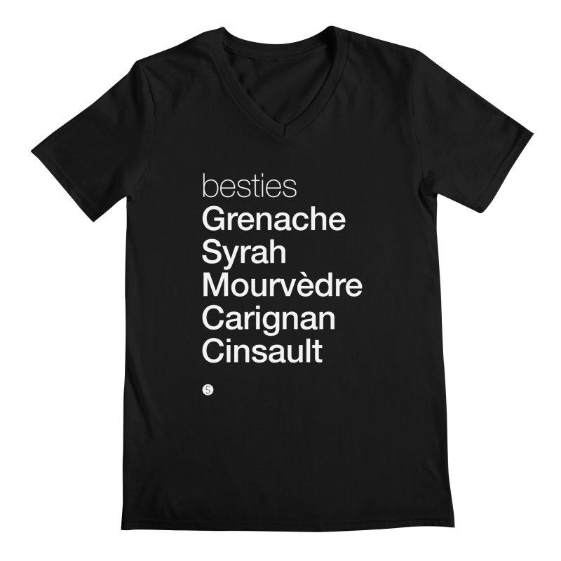 Besties. Grenache, Syrah, Mourvèdre, Carignan, Cinsault Men's V-Neck by Salty Shirts