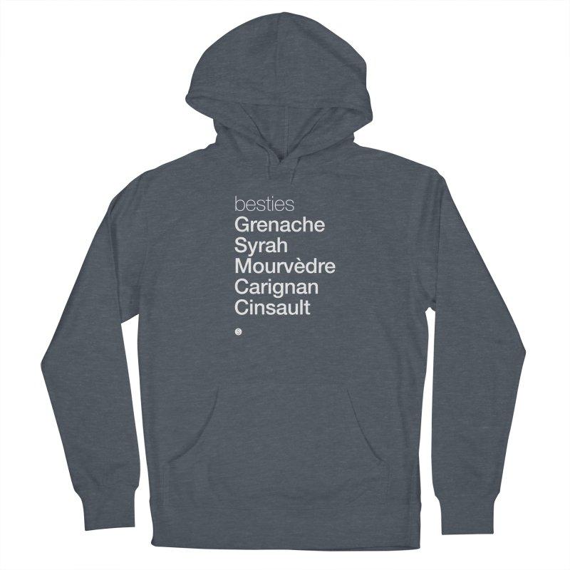 Besties. Grenache, Syrah, Mourvèdre, Carignan, Cinsault Women's Pullover Hoody by Salty Shirts