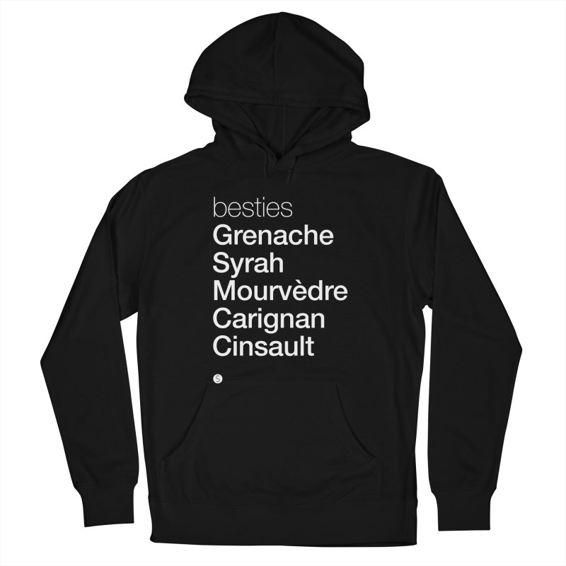 Besties. Grenache, Syrah, Mourvèdre, Carignan, Cinsault Women's French Terry Pullover Hoody by Salty Shirts
