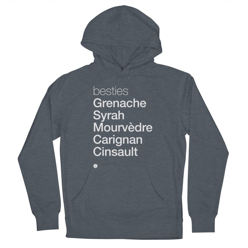 Besties. Grenache, Syrah, Mourvèdre, Carignan, Cinsault Men's French Terry Pullover Hoody by Salty Shirts