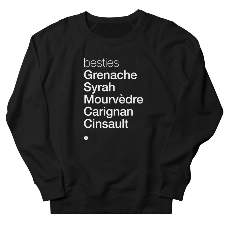 Besties. Grenache, Syrah, Mourvèdre, Carignan, Cinsault Men's French Terry Sweatshirt by Salty Shirts