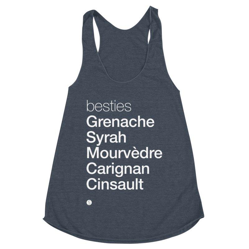 Besties. Grenache, Syrah, Mourvèdre, Carignan, Cinsault Women's Tank by Salty Shirts