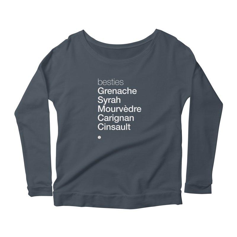 Besties. Grenache, Syrah, Mourvèdre, Carignan, Cinsault Women's Longsleeve T-Shirt by Salty Shirts