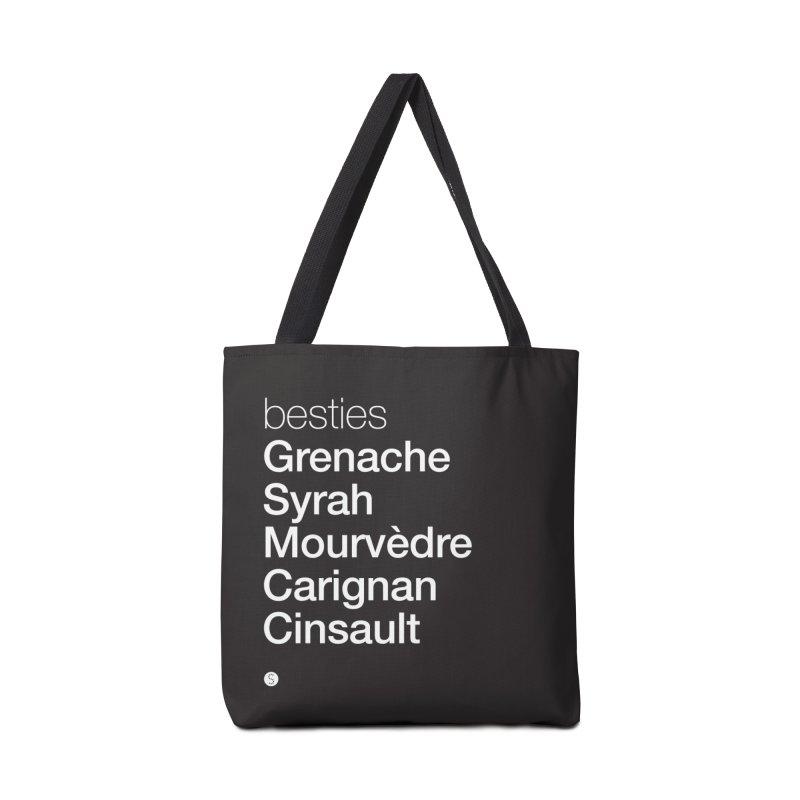 Besties. Grenache, Syrah, Mourvèdre, Carignan, Cinsault Accessories Bag by Salty Shirts