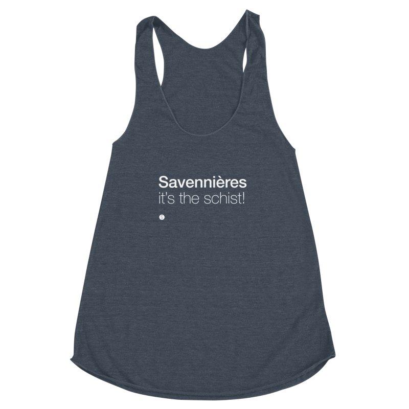 Savennières. It's The Schist! Women's Racerback Triblend Tank by Salty Shirts