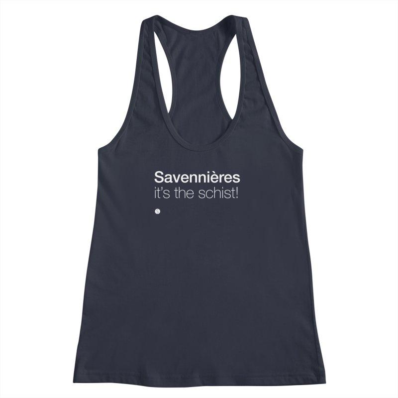 Savennières. It's The Schist! Women's Racerback Tank by Salty Shirts