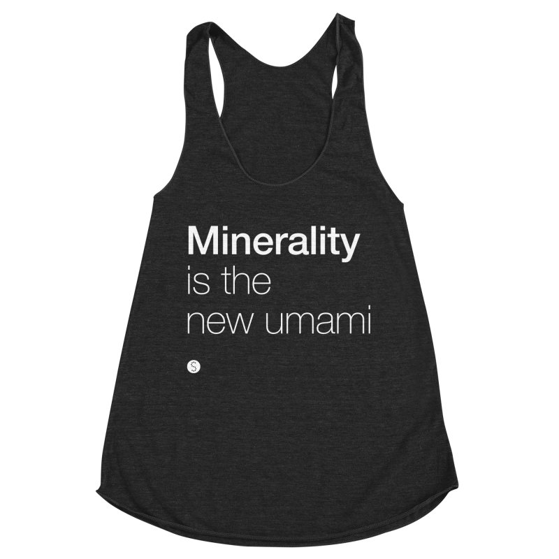 Minerality Is The New Umami Women's Racerback Triblend Tank by Salty Shirts