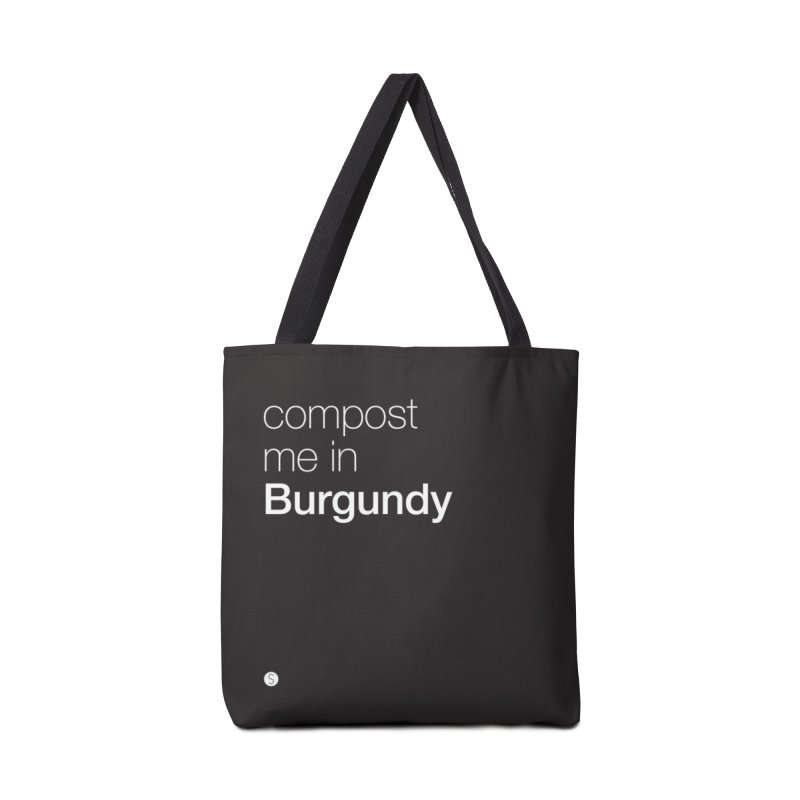 Compost Me In Burgundy in Tote Bag by Salty Shirts
