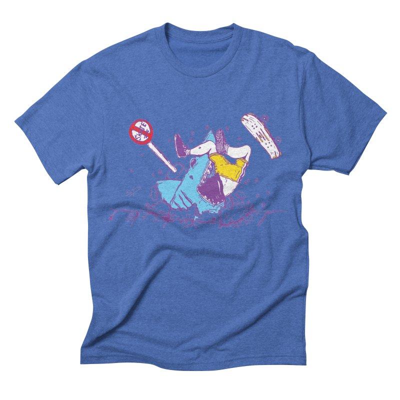 Sidewalk Surfer Men's Triblend T-shirt by The Salty Studios @ Threadless