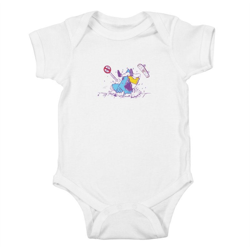 Sidewalk Surfer Kids Baby Bodysuit by The Salty Studios @ Threadless