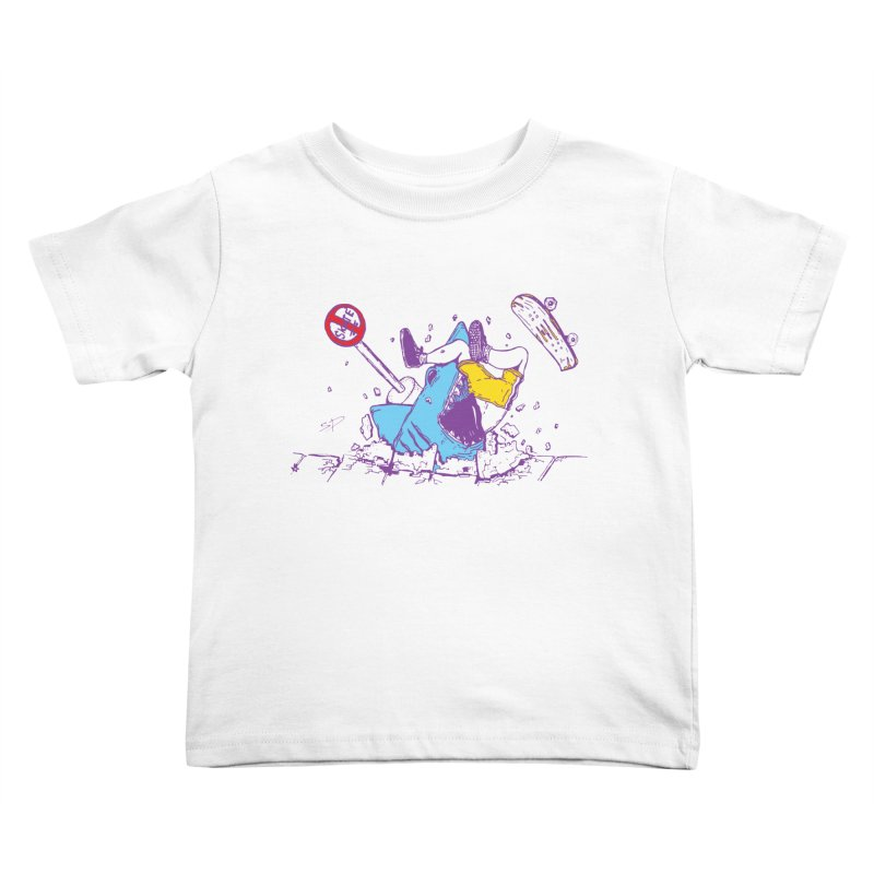 Sidewalk Surfer Kids Toddler T-Shirt by The Salty Studios @ Threadless