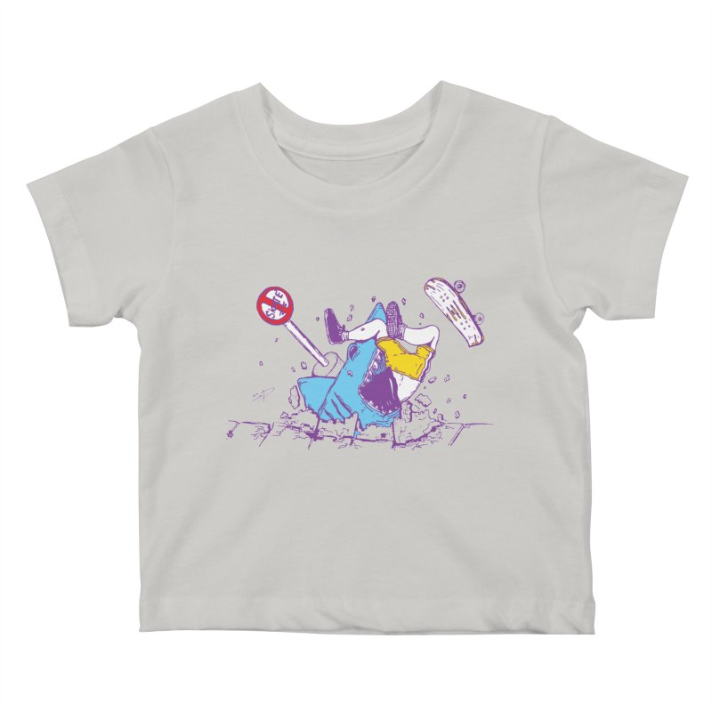 Sidewalk Surfer Kids Baby T-Shirt by The Salty Studios @ Threadless