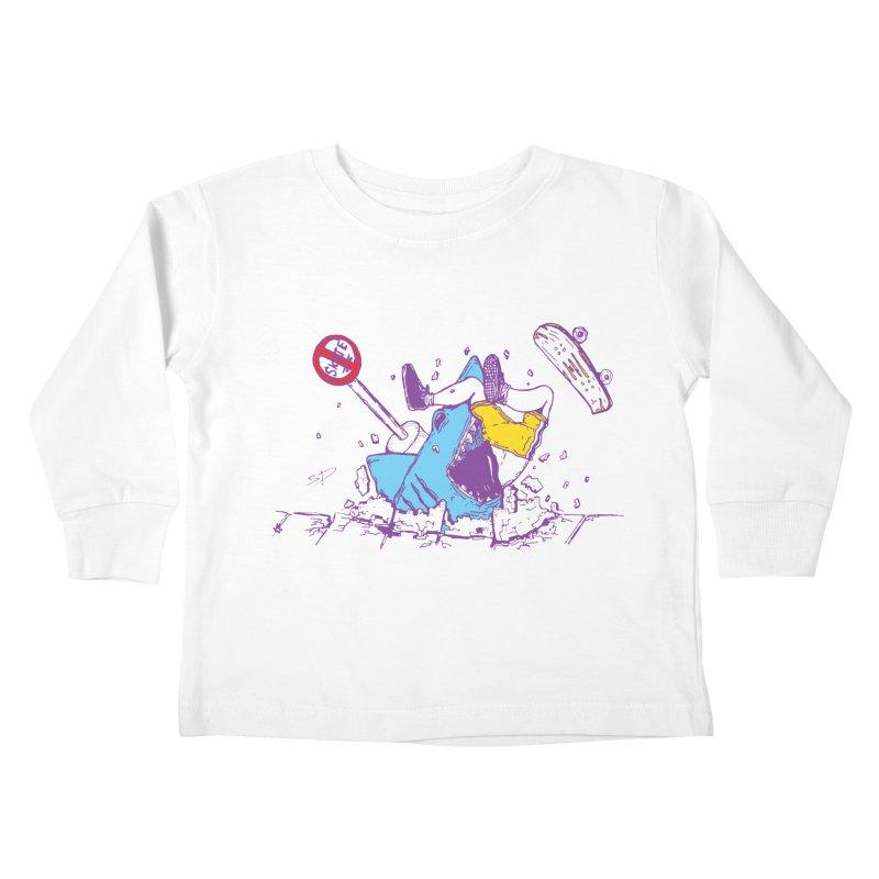 Sidewalk Surfer Kids Toddler Longsleeve T-Shirt by The Salty Studios @ Threadless