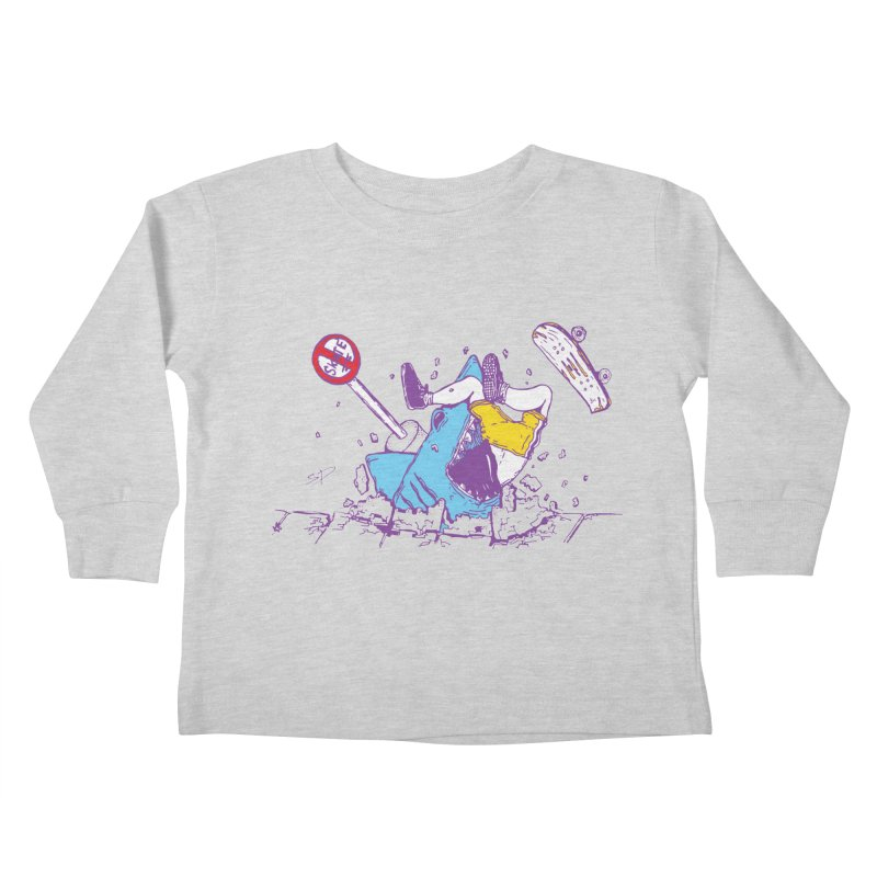 Sidewalk Surfer Kids Toddler Longsleeve T-Shirt by The Salty Studios @ Threadless