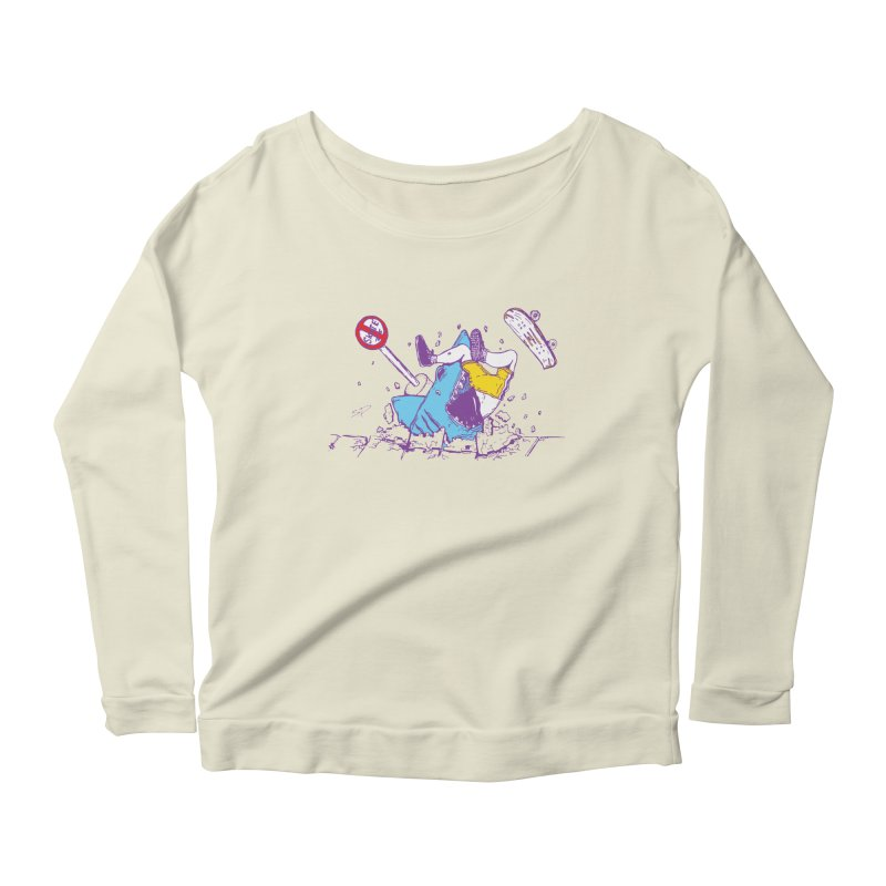 Sidewalk Surfer Women's Longsleeve Scoopneck  by The Salty Studios @ Threadless
