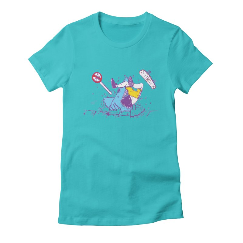 Sidewalk Surfer Women's Fitted T-Shirt by The Salty Studios @ Threadless