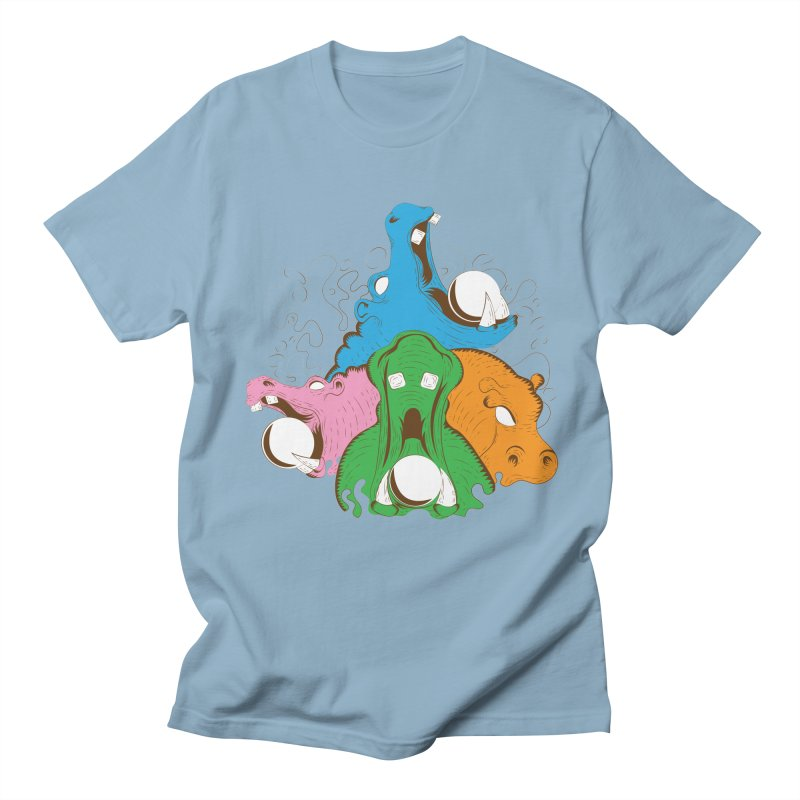 Hangry Hangry Hippos Women's Unisex T-Shirt by The Salty Studios @ Threadless