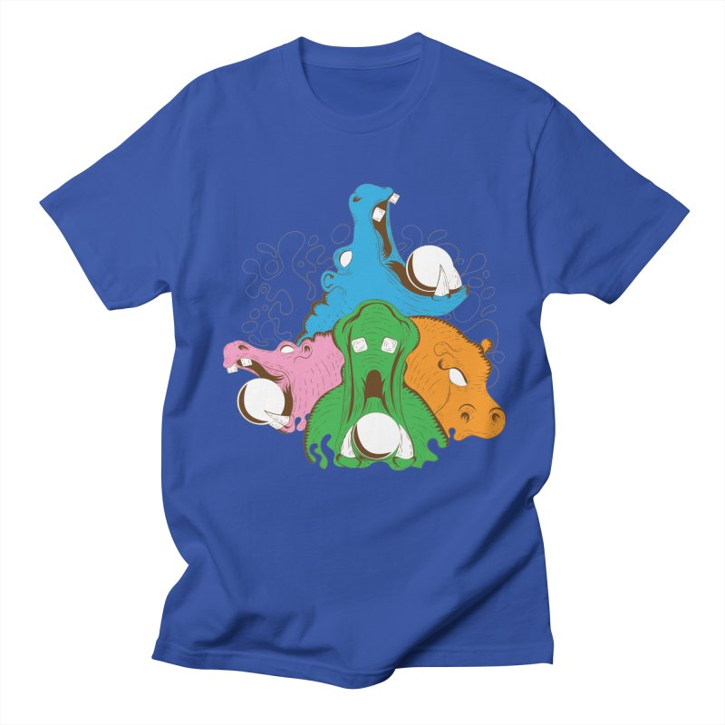 Hangry Hangry Hippos Men's T-shirt by The Salty Studios @ Threadless