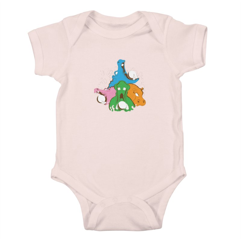 Hangry Hangry Hippos Kids Baby Bodysuit by The Salty Studios @ Threadless