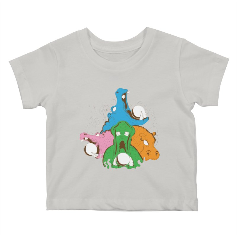 Hangry Hangry Hippos Kids Baby T-Shirt by The Salty Studios @ Threadless