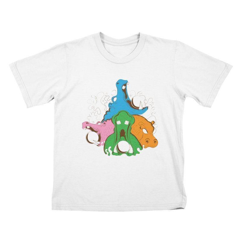 Hangry Hangry Hippos Kids T-shirt by The Salty Studios @ Threadless