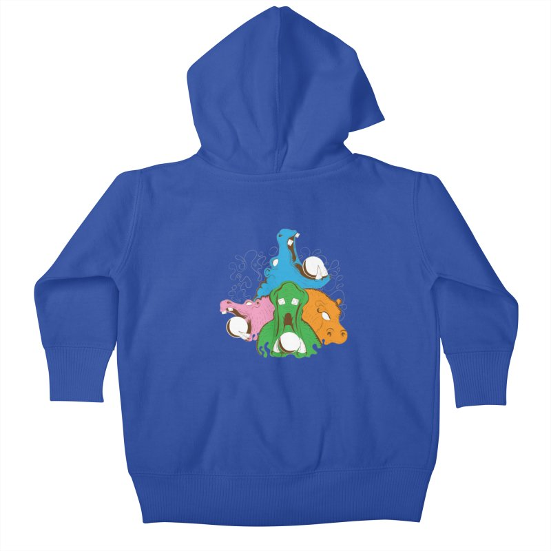 Hangry Hangry Hippos Kids Baby Zip-Up Hoody by The Salty Studios @ Threadless