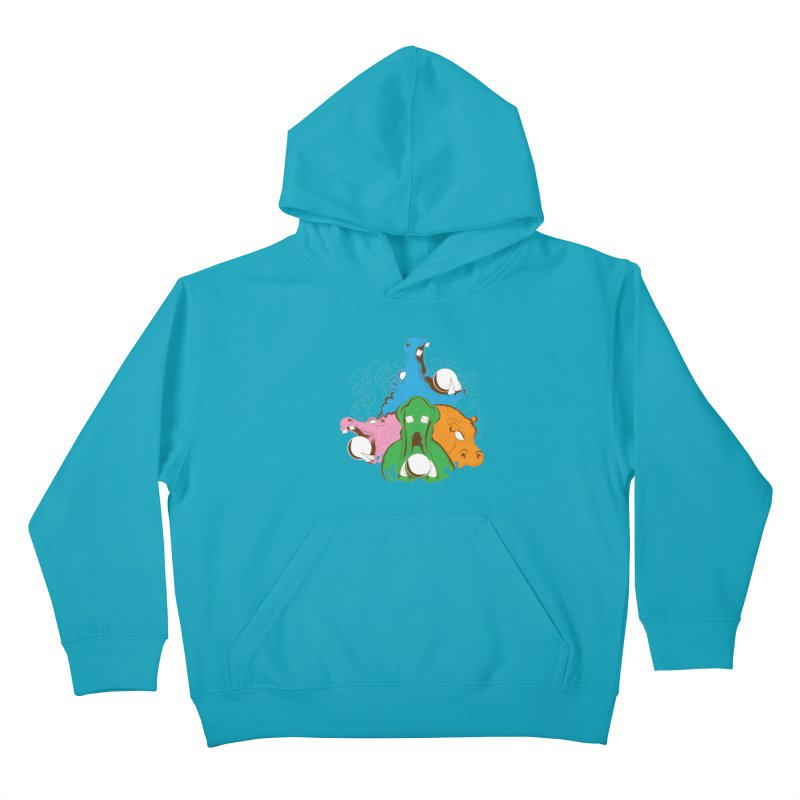 Hangry Hangry Hippos Kids Pullover Hoody by The Salty Studios @ Threadless