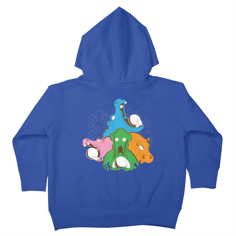 Hangry Hangry Hippos Kids Toddler Zip-Up Hoody by The Salty Studios @ Threadless