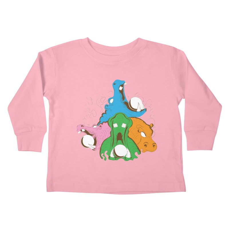 Hangry Hangry Hippos Kids Toddler Longsleeve T-Shirt by The Salty Studios @ Threadless