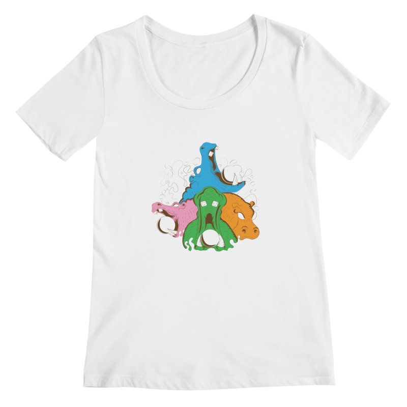 Hangry Hangry Hippos Women's Scoopneck by The Salty Studios @ Threadless