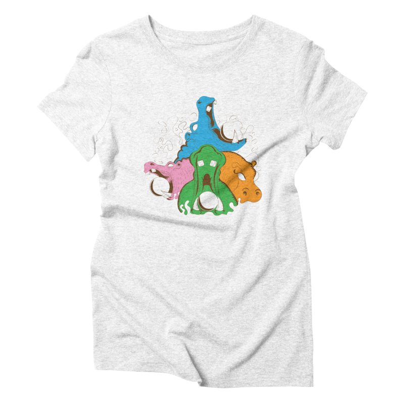 Hangry Hangry Hippos Women's Triblend T-shirt by The Salty Studios @ Threadless