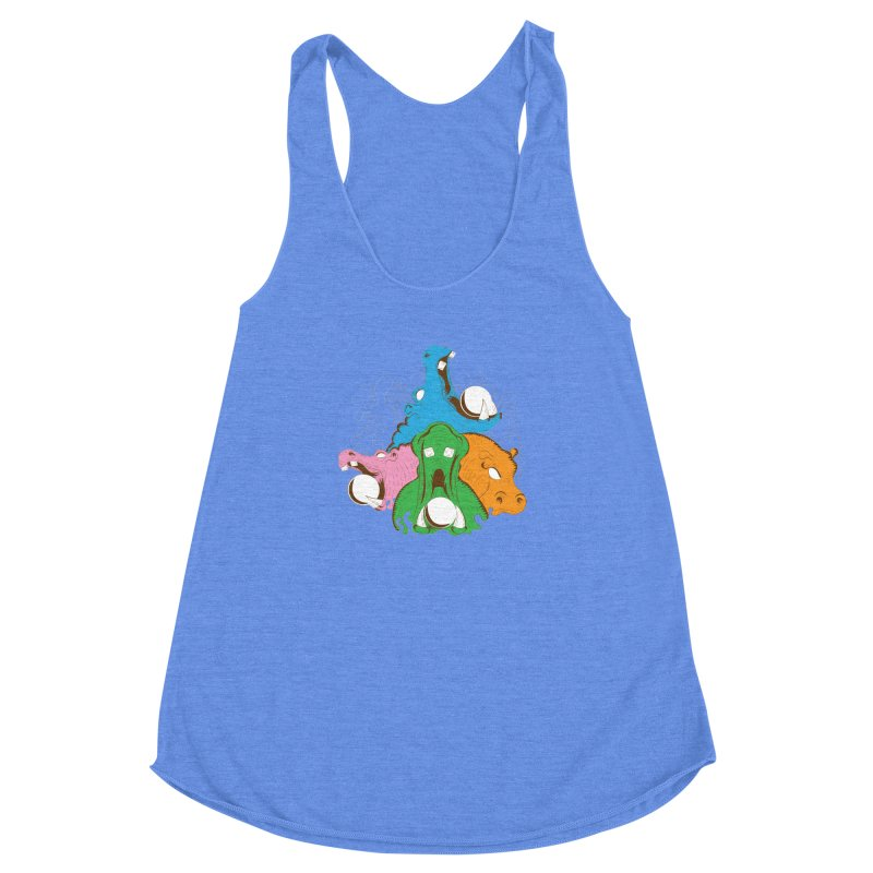 Hangry Hangry Hippos Women's Racerback Triblend Tank by The Salty Studios @ Threadless