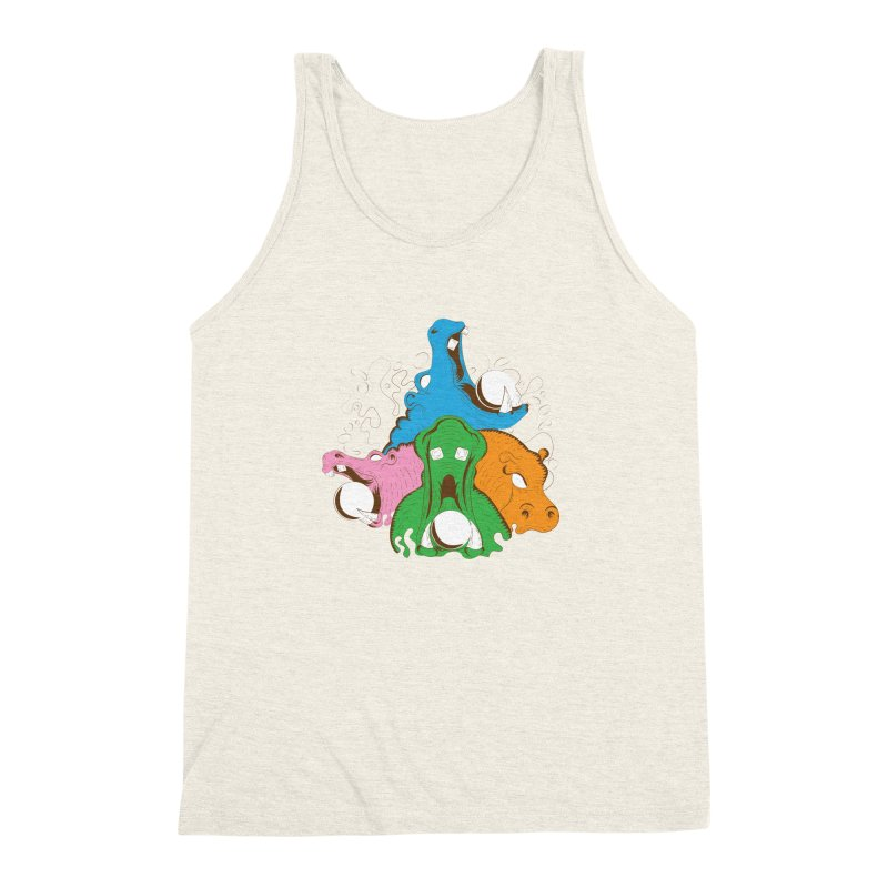 Hangry Hangry Hippos Men's Triblend Tank by The Salty Studios @ Threadless