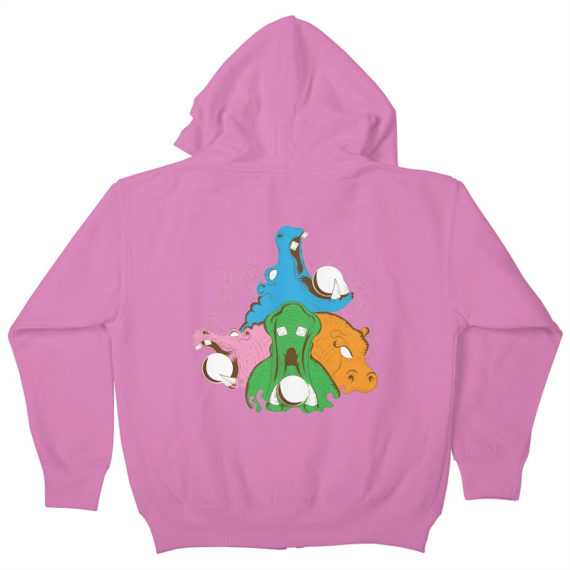 Hangry Hangry Hippos Kids Zip-Up Hoody by The Salty Studios @ Threadless