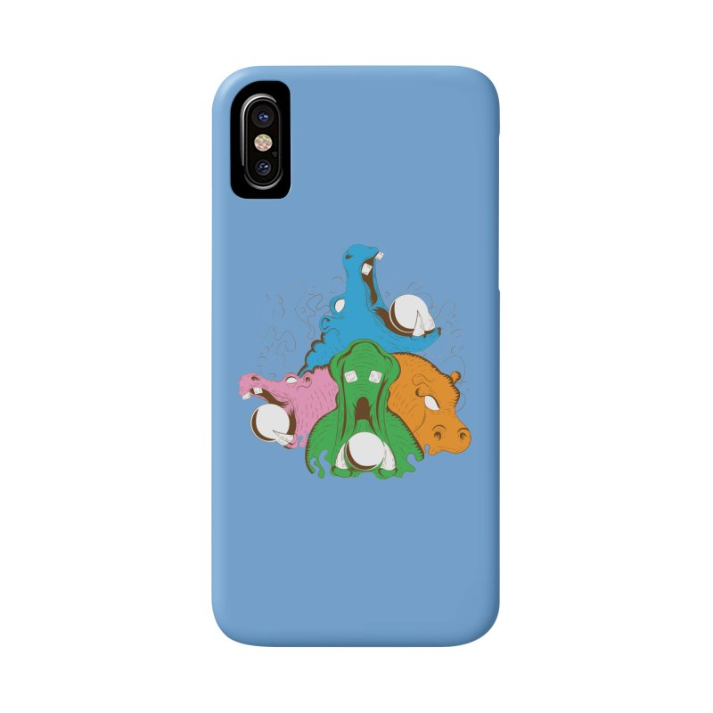 Hangry Hangry Hippos Accessories Phone Case by The Salty Studios @ Threadless