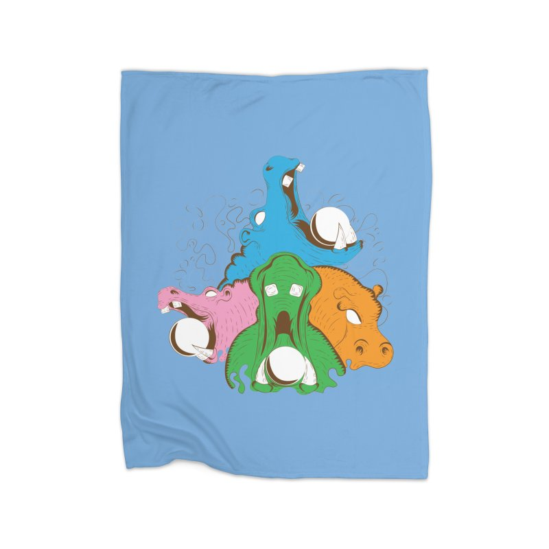 Hangry Hangry Hippos Home Blanket by The Salty Studios @ Threadless