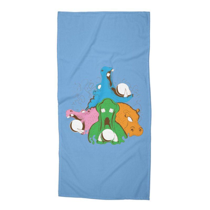 Hangry Hangry Hippos Accessories Beach Towel by The Salty Studios @ Threadless