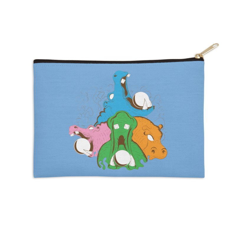 Hangry Hangry Hippos Accessories Zip Pouch by The Salty Studios @ Threadless