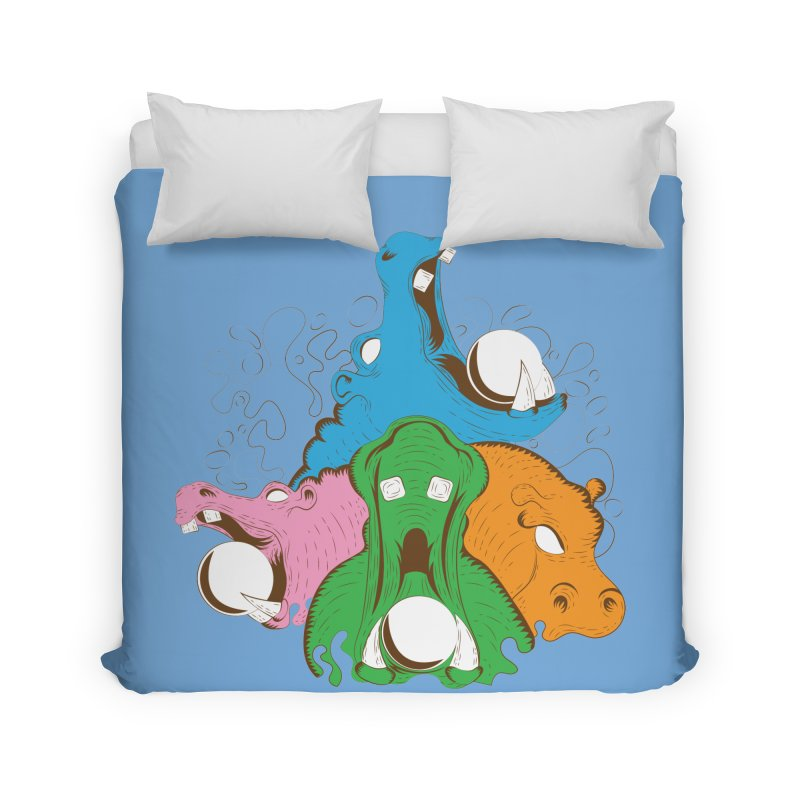 Hangry Hangry Hippos Home Duvet by The Salty Studios @ Threadless