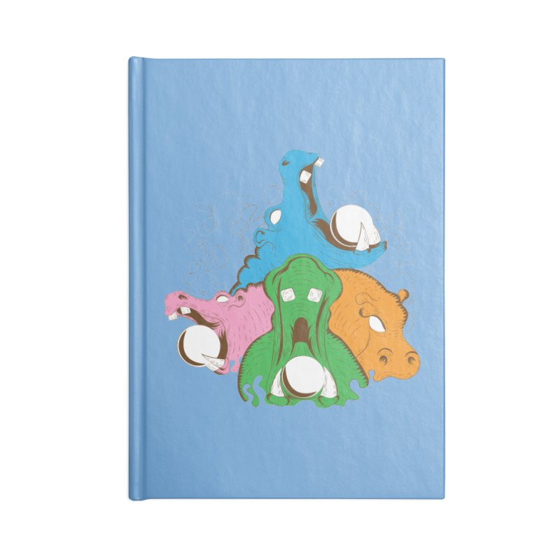 Hangry Hangry Hippos Accessories Notebook by The Salty Studios @ Threadless