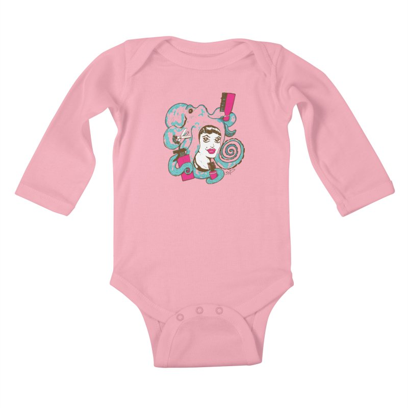 Octocuts Kids Baby Longsleeve Bodysuit by The Salty Studios @ Threadless