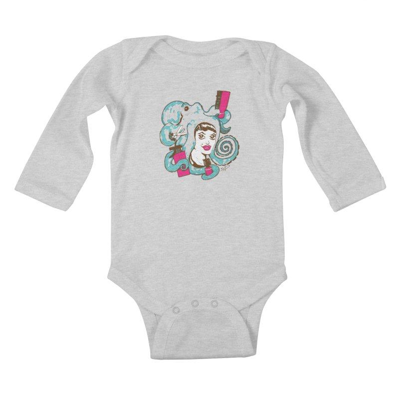 Octocuts Kids Baby Longsleeve Bodysuit by The Salty Studios @ Threadless