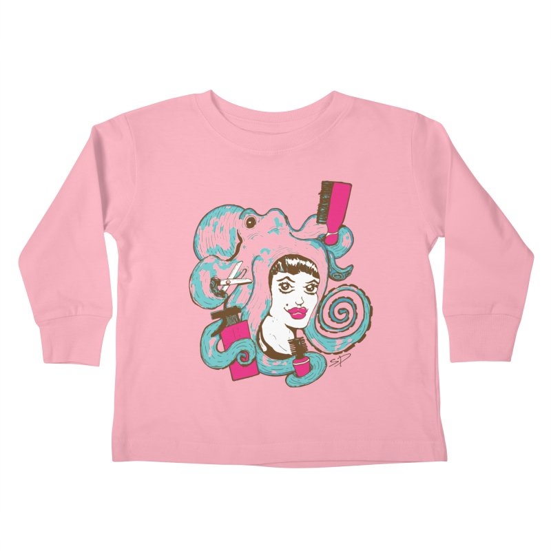 Octocuts Kids Toddler Longsleeve T-Shirt by The Salty Studios @ Threadless