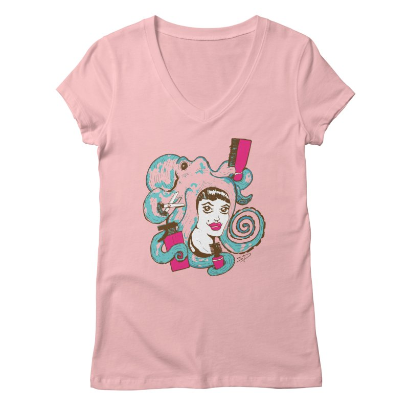 Octocuts Women's V-Neck by The Salty Studios @ Threadless