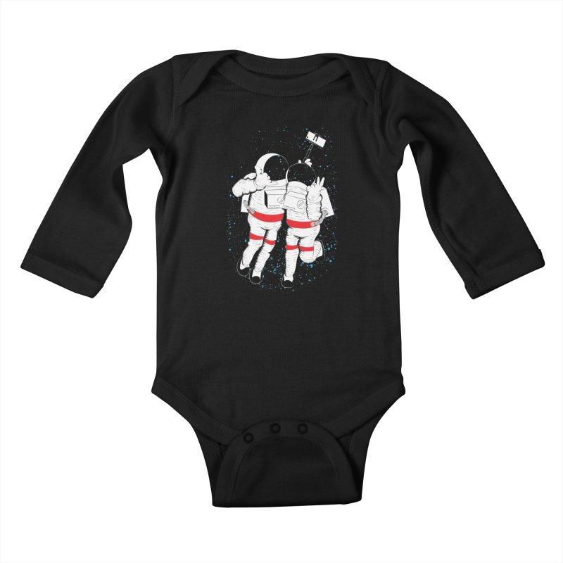 Spacie Kids Baby Longsleeve Bodysuit by The Salty Studios @ Threadless